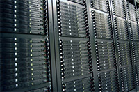 A Bank of servers